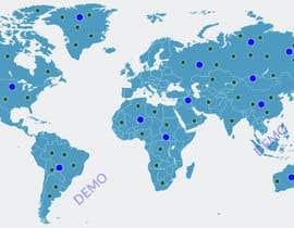 Nro 9 kilpailuun World map for website käyttäjältä SadidMollick