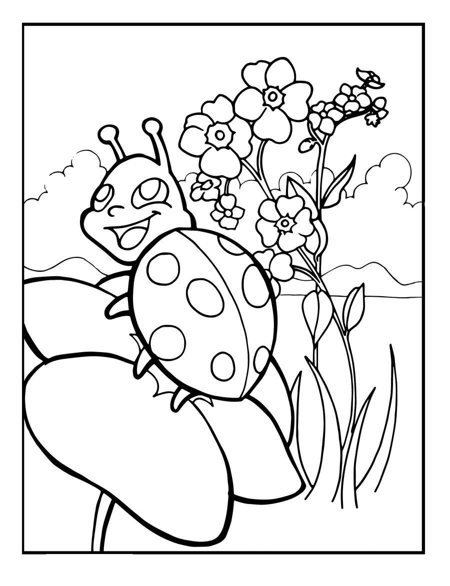 Entry #7 by kirasicart for 5 Nature-Based Coloring Pages ...