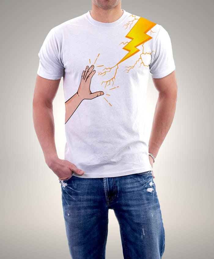 Kilpailutyö #                                        18                                      kilpailussa                                         Design a T-Shirt_command lightning