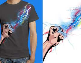 Nro 16 kilpailuun Design a T-Shirt_command lightning käyttäjältä anieshiaka