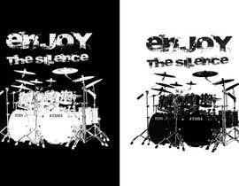 Nro 57 kilpailuun Design a Drummer T-shirt käyttäjältä zwook