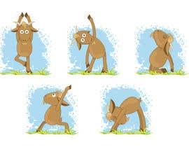 Nro 3 kilpailuun Illustrate Goat Yoga Poses käyttäjältä irisdesign