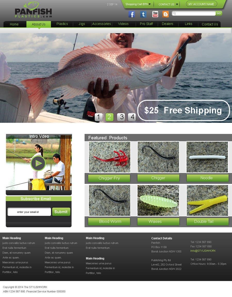 Penyertaan Peraduan #                                        5                                      untuk                                         Design a Website Mockup for ecommerce fishing store