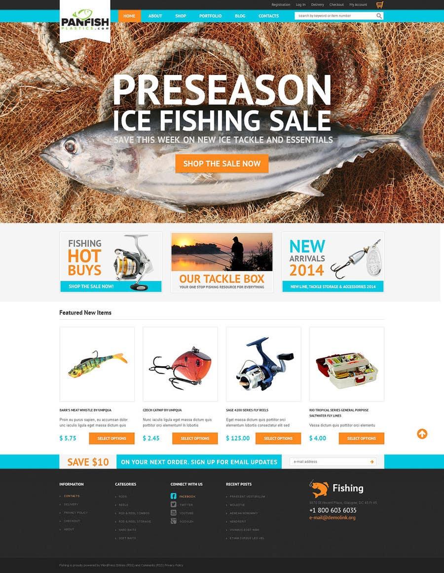 Penyertaan Peraduan #                                        2                                      untuk                                         Design a Website Mockup for ecommerce fishing store