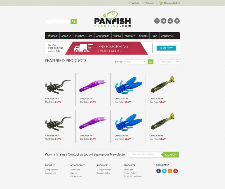 Penyertaan Peraduan #                                        20                                      untuk                                         Design a Website Mockup for ecommerce fishing store