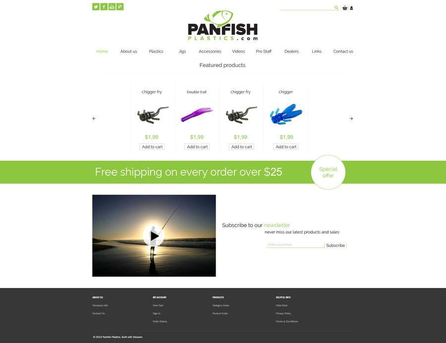 Penyertaan Peraduan #                                        12                                      untuk                                         Design a Website Mockup for ecommerce fishing store