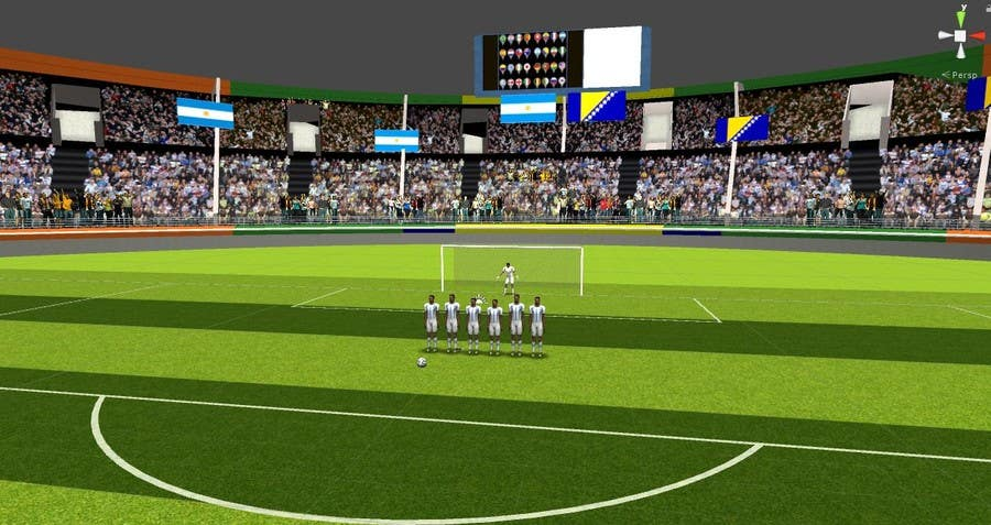 Proposition n°6 du concours Do some 3D Modelling - Create A 3d Half Football Stadium