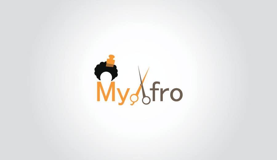 """Kilpailutyö #                                        11                                      kilpailussa                                         logo design for my """" MyAfro"""""""