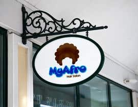 """Nro 8 kilpailuun logo design for my """" MyAfro"""" käyttäjältä engrmykel"""