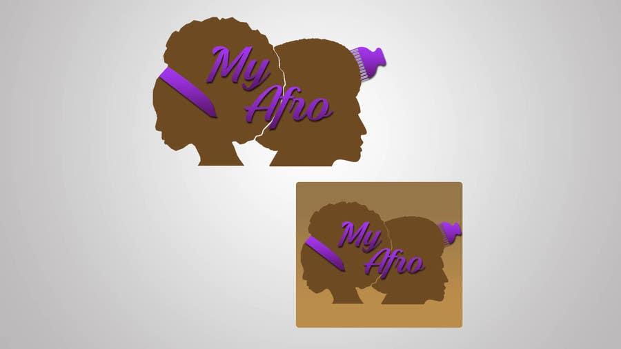 """Kilpailutyö #                                        27                                      kilpailussa                                         logo design for my """" MyAfro"""""""