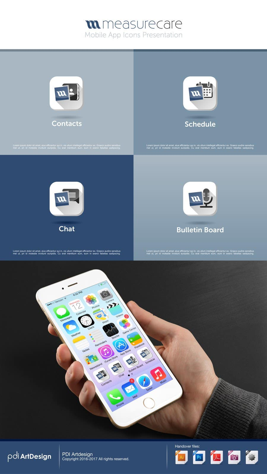 Proposition n°31 du concours 4 separate mobile app icons designs are needed