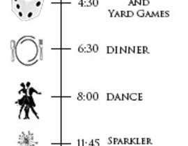 nº 1 pour Wedding Timeline Card par dragan1024
