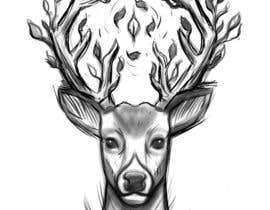 #21 for Tattoo Design: Abstract Animal Theme (Preferably Blue Whale, Lion or Deer) by CoreyHebert