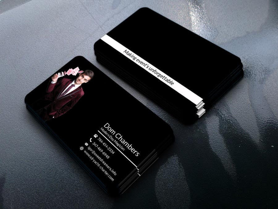 Entry #97 by alamindesign for Design some Business Cards - Magician ...