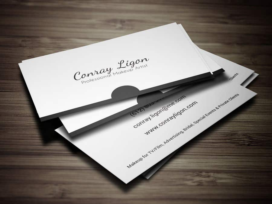 Proposition n°360 du concours Professional business card for male makeup artist.