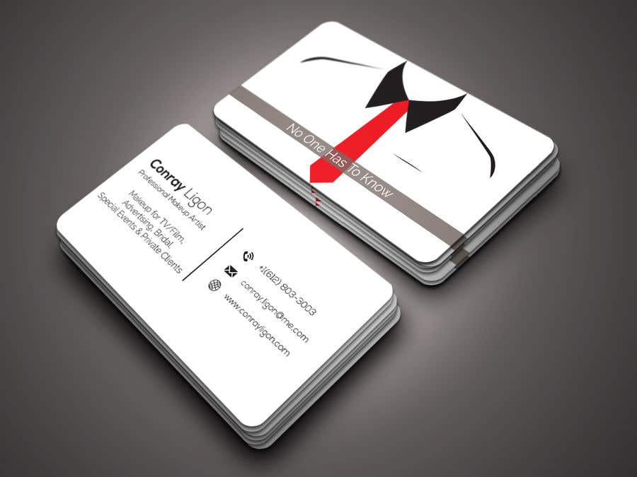 Contest Entry 214 For Professional Business Card Male Makeup Artist