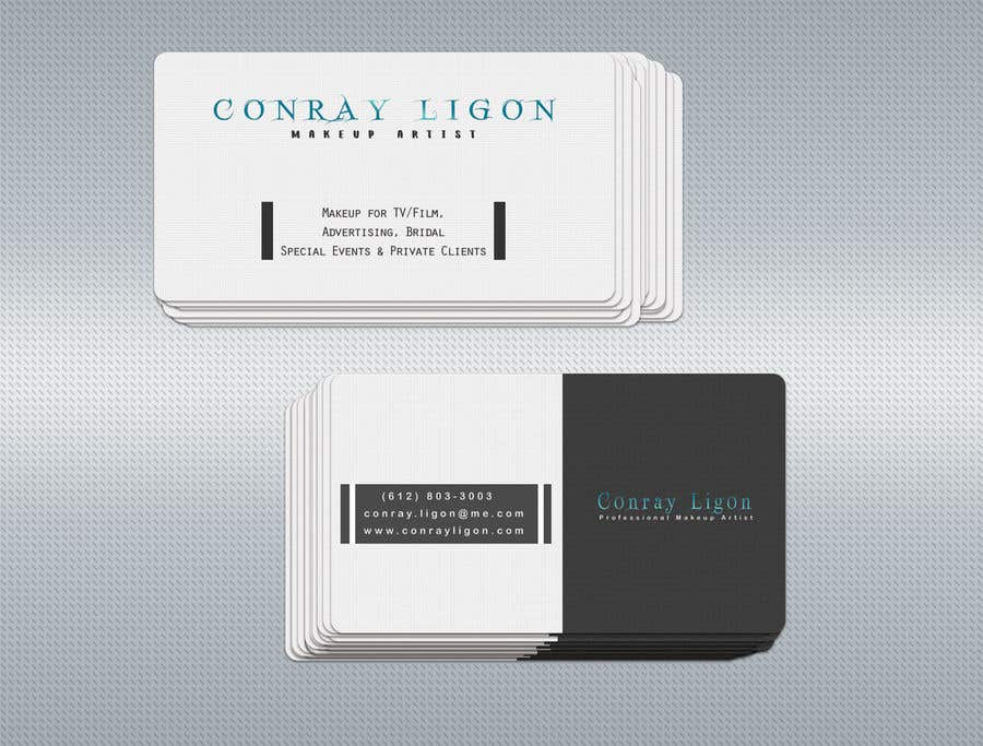 Proposition n°264 du concours Professional business card for male makeup artist.