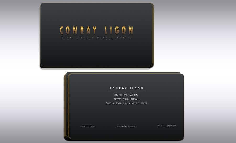 Proposition n°337 du concours Professional business card for male makeup artist.