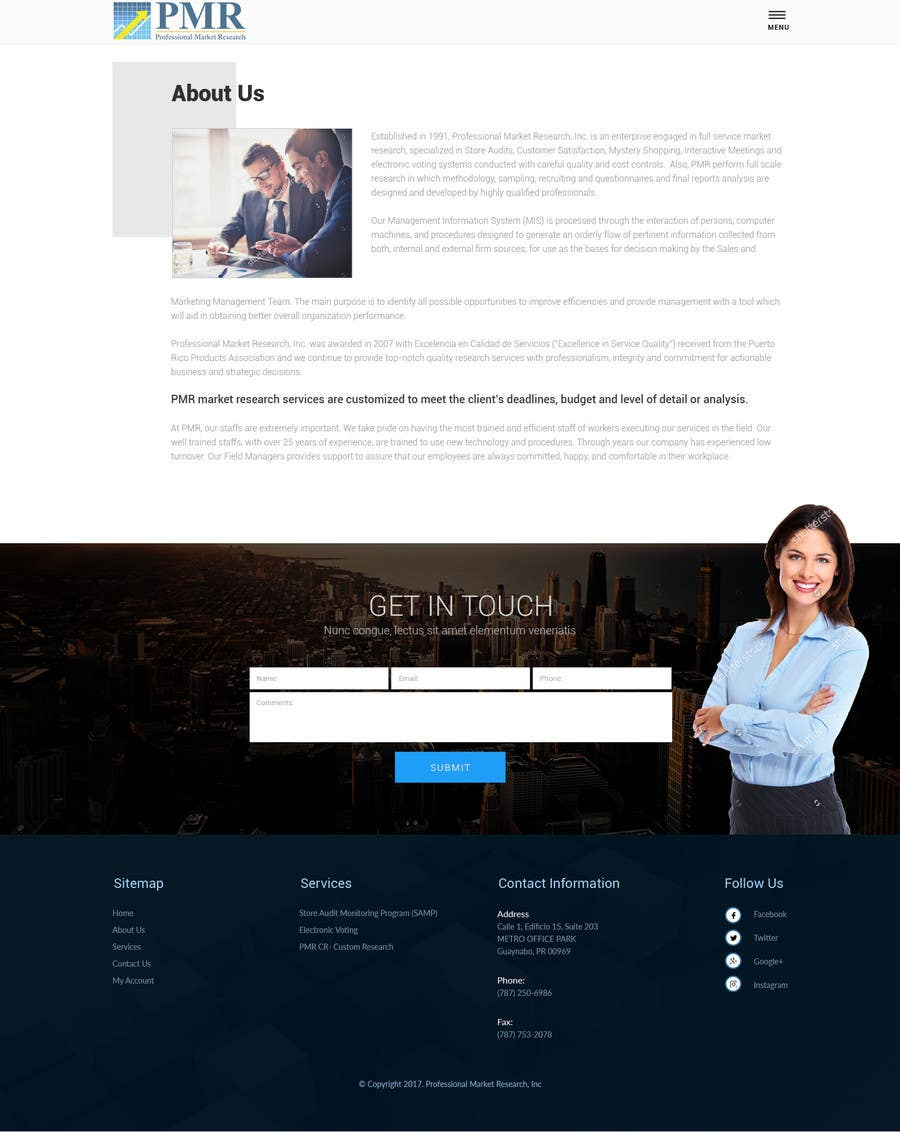 Proposition n°20 du concours Redesign a old website for a service company