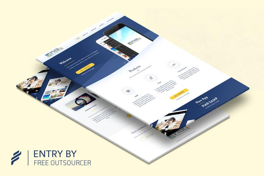 Proposition n°35 du concours Redesign a old website for a service company
