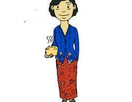 nº 7 pour Illustrate a lady in cartoon style par herdian