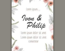 #3 for Floral themed wedding invitation set by farfalli