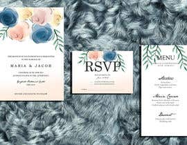 #13 for Floral themed wedding invitation set by zahra0501