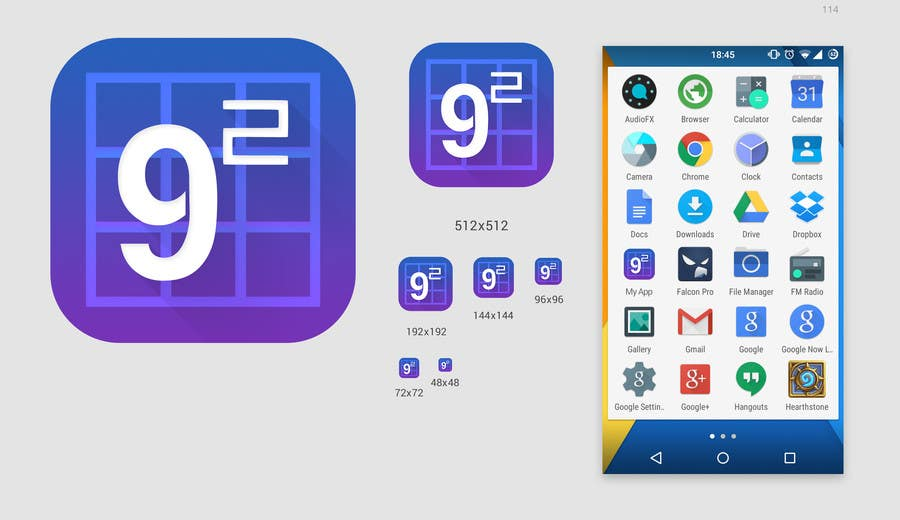 Proposition n°18 du concours Android App Icon