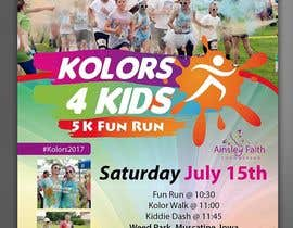 #16 for Design a Color Run Poster and Handout Combo for Non-Profit by PabloSabala