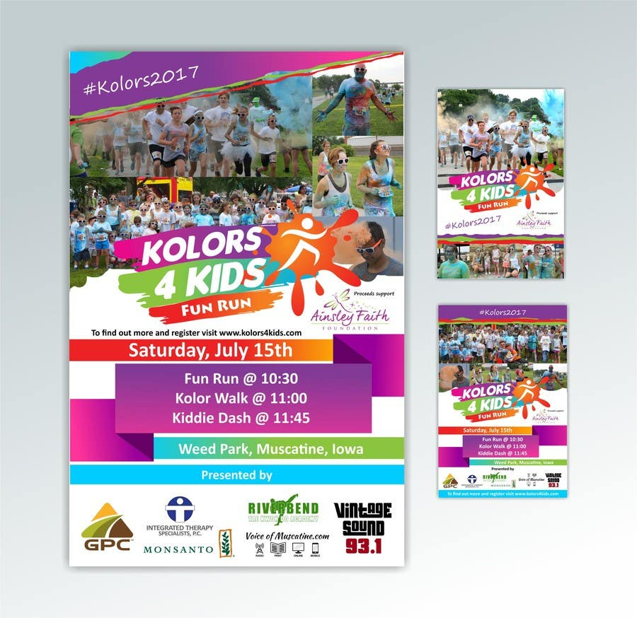Proposition n°13 du concours Design a Color Run Poster and Handout Combo for Non-Profit