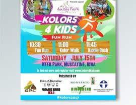 nº 15 pour Design a Color Run Poster and Handout Combo for Non-Profit par ridwantjandra