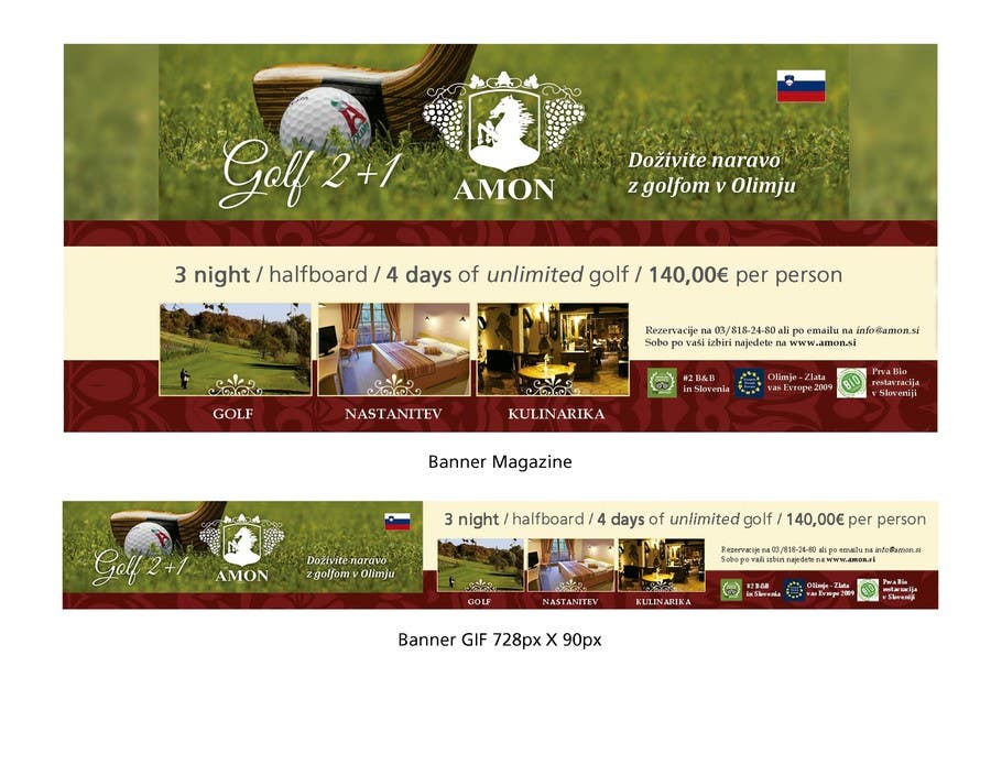 Entry 1 By Pablosabala For Design A Golf Banner For Website And A Magazine Freelancer