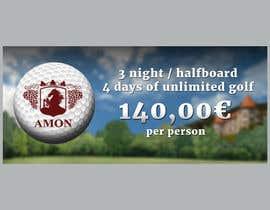 nº 4 pour Design a golf banner for website and a magazine par viktorbublic