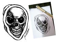 Graphic Design Kilpailutyö #12 kilpailuun Illustrate a Skull - Angry and Badass