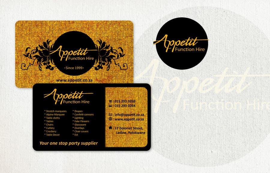#65 for Business Card Design for Appétit Function Hire by designer12