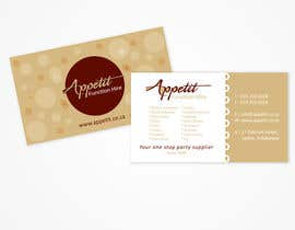 #10 pentru Business Card Design for Appétit Function Hire de către designer12