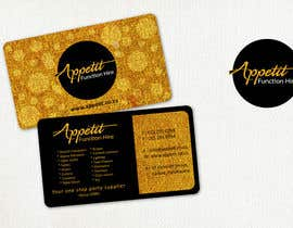 #61 pentru Business Card Design for Appétit Function Hire de către designer12