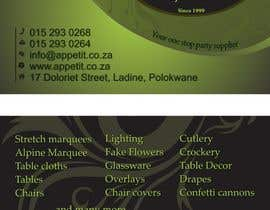 #67 for Business Card Design for Appétit Function Hire by anicolada