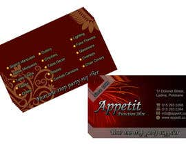 #71 pentru Business Card Design for Appétit Function Hire de către ganeshnachi
