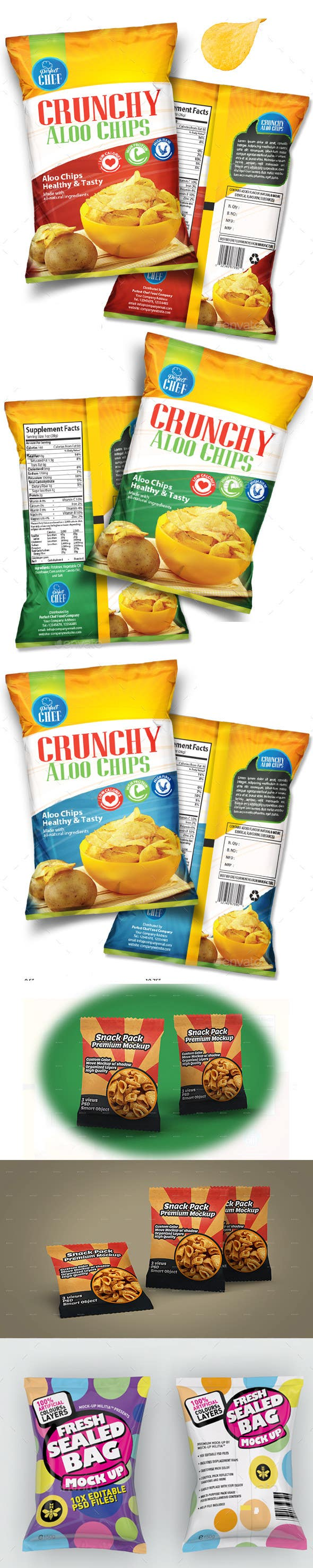 Proposition n°1 du concours Design Snack Food Packaging for nuts and chips -- 2