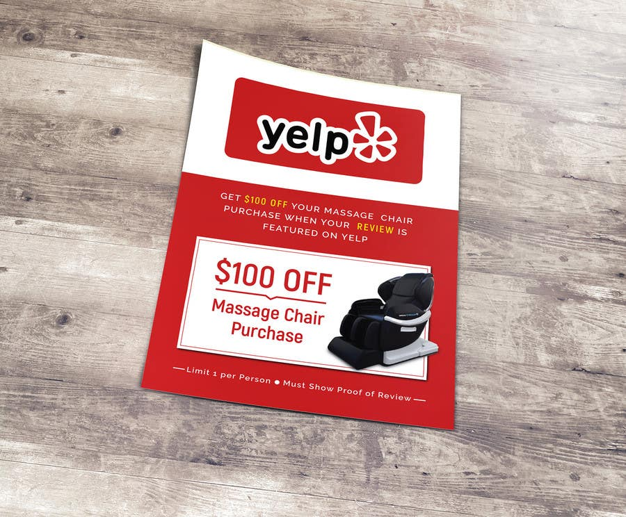 Proposition n°66 du concours FAST WORK - EASY MONEY - Design a Yelp Promotional Flyer
