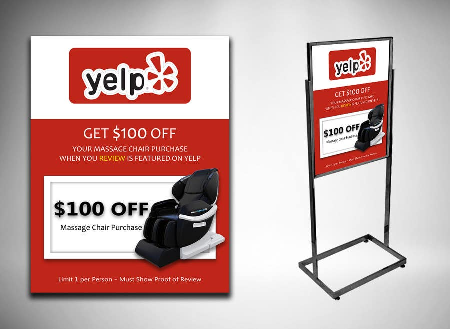 Proposition n°61 du concours FAST WORK - EASY MONEY - Design a Yelp Promotional Flyer