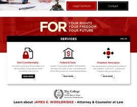 nº 24 pour Design a Website Mockup for Lawyer par rosepapri