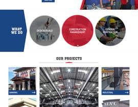 Nro 66 kilpailuun Design a Website Mockup for Commercial Builders käyttäjältä pixelwebplanet