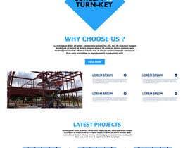 Nro 47 kilpailuun Design a Website Mockup for Commercial Builders käyttäjältä TheDzoni