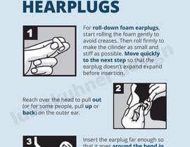 Nro 16 kilpailuun Earplug Instructions - Poster Design Comp käyttäjältä luisakuhner