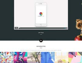 nº 2 pour 1 page - landing page in html / CSS for a mobile app w/ Instagram feed par CircleOf8
