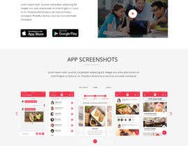nº 3 pour 1 page - landing page in html / CSS for a mobile app w/ Instagram feed par designboxpsd