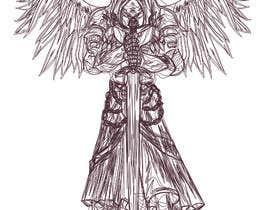 nº 23 pour Design an Angel Warrior T-Shirt par kaliuser54