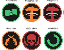 nº 6 pour Design 25 Achievement Icons for a mobile Space Shooter game par fairenoughdesign